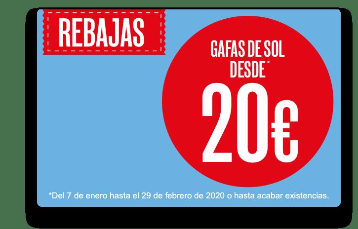 Rebajas gafas de sol desde 20€